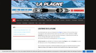 Location de skis sur internet : locationski-laplagne
